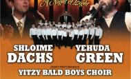 Cahal/Tova Benefit Concert: Shloime Dachs, Yehuda Green & Debut of Yitzy Bald Boys Choir
