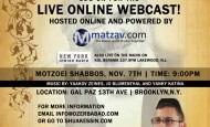 Shua Kessin Live Webcast! This Motzei Shabbos