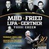 MBD, Fried, Lipa, Gertner and Yossi Green to Star in Concert!