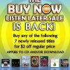 MostlyMusic.com Buy Now Listen Later Sale