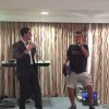 Eitan Freilich surprised the children at Camp Simcha UK