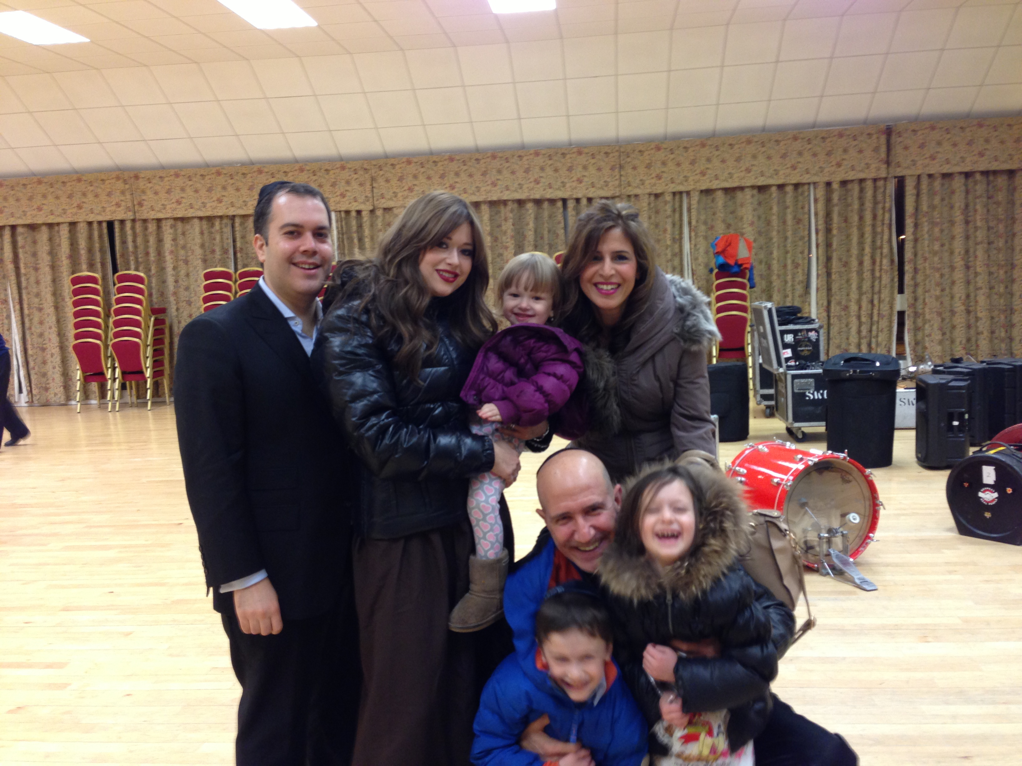 SHolom and Pessy and family with Yossi and Iris